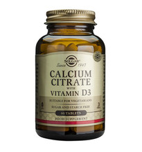 Solgar Calcium Citrate with Vitamin D3 60 Tablets NZ