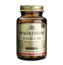 Solgar Magnesium with Vitamin B6 100 Tablets NZ