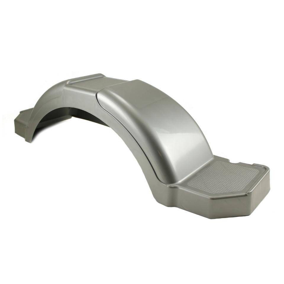 Silver Plastic Step Trailer Fender 13 Inch Tire