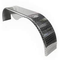 66x9 Tandem Axle Aluminum Tread Plate Trailer Fender (angle)