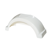 "White Plastic Trailer Fender - 13"" Tire Size - One Fender - 008543"