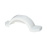 "White Plastic Trailer Fender - 13"" Tire Size - One Fender - 008573"
