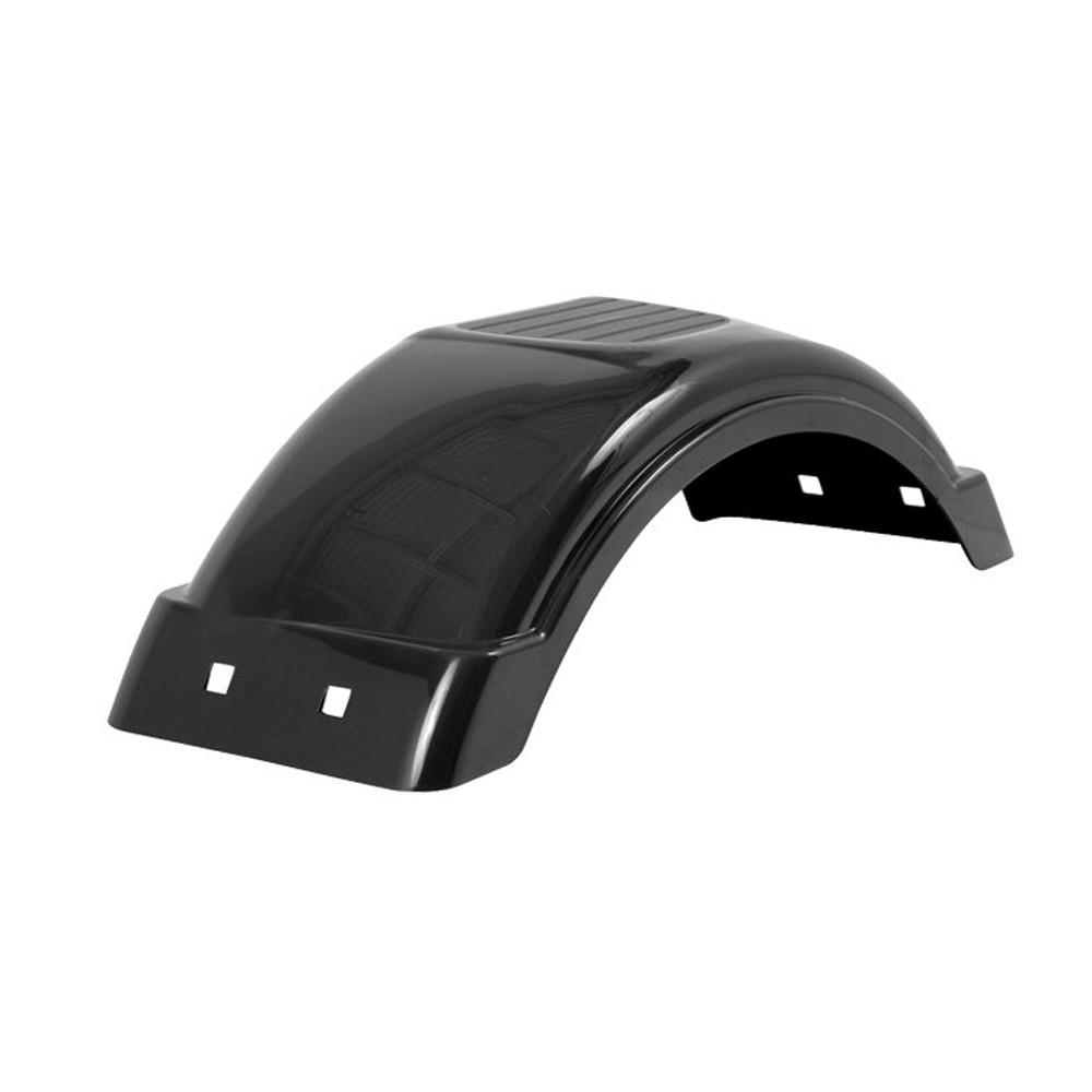12-Inch Tire Size Fulton Trailer Fenders Plastic Fender 8-Inch Black #008550