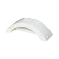 "White Plastic Trailer Fender - 8""-12"" Tire Size - One Fender - 008541"