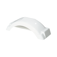"White Plastic Trailer Fender - 8""-12"" Tire Size - One Fender - 008549"