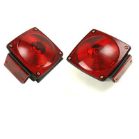 "Trailer Brake Light Set Square Standard (Lights, Mounting)[under 80"" wide - (3 wire setups)] - Non Submersible"
