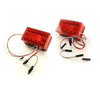 Trailer Brake Light Kit Rectangular LED - [over 80 (4-wire)] - Submersible