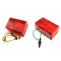 Trailer Brake Light Kit Rectangular INCANDESCENT - [over 80 (4-wire)] - Submersible