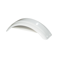 "White Plastic Trailer Fender - 8""-12"" Tire Size - One Fender - 008540"