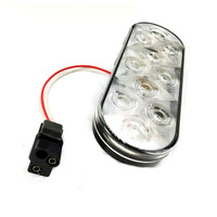 "LED 6"" Oval Clear Submersible Trailer Reverse Light w/ Wire"