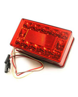 """Submersible LED Tail Light / Turn Signal Left Hand Under 80"""" Light With Ground Wire"""