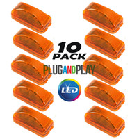 "10 Pack - 2.5""  LED Trailer Clearance Light - Snap Lock - Amber"
