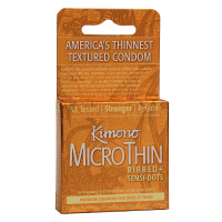 MicroThin Ribbed + Sensi-Dots Condoms