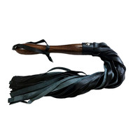 Wooden Handle Flogger - Black