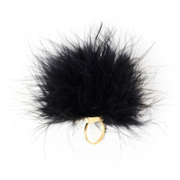 Feather Tickler Ring - Black - O/S