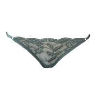 Fortuna String Thong - Verde Piedra