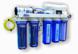 AquaFX Octopus RO/DI System with Chloramine Blaster Upgrade (200 GPD) **Actual Product Comes Minus 1 Canister By Factory*