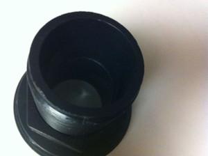 1.5 Inch Bulkhead Fitting (Black) Slip X Slip