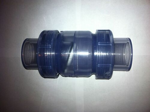 "3/4"" True Clear Union Check Valve SxS (Slip X Slip)"