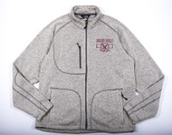 Oakland Catholic Full Zip Knit Fleece - Oatmeal