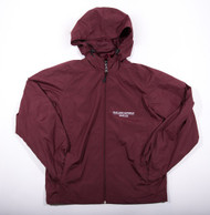 Oakland Catholic Burgundy Full Zip Windbreaker