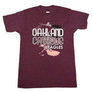 Oakland Catholic Burgundy Heather T-Shirt