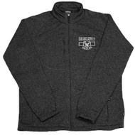 Oakland Catholic Full Zip Knit Fleece - Black Heather