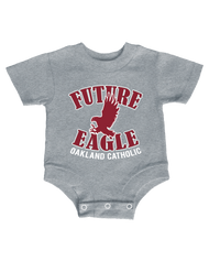 Infant Future Eagle Onesie - Gray