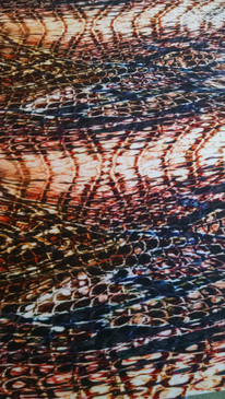 Reptile fabric. Natural colors with pattern of snake skin.