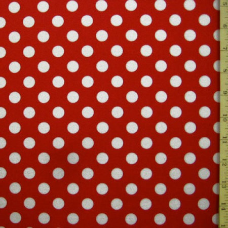 White dots on red fabric
