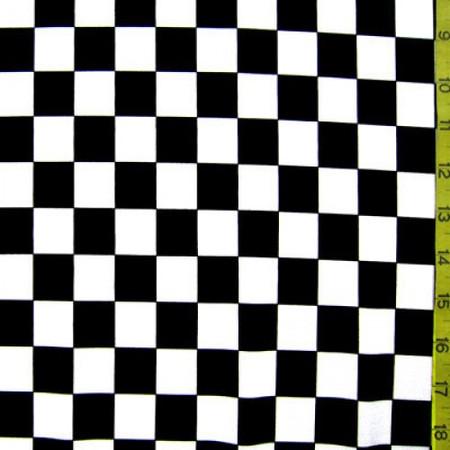 Black and white checker pattern fabric