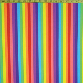 Rainbow pattern in straight vertical stripes