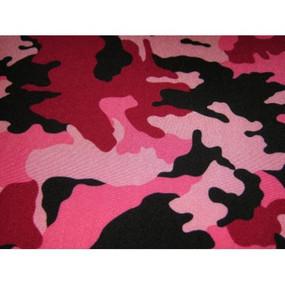 Pink camo has three shades of pink and black.