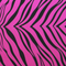 Pink fabric with black tiger stripes. A popular fabric.
