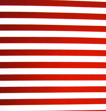 Striped fabric mimicking the red and white portion of the american flag.