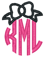Bow Applique Monogram
