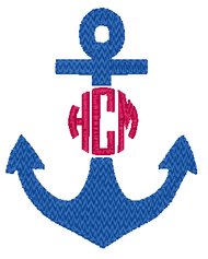 Anchor Chevron Monogram