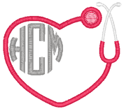Heart Stethoscope 2 Monogram
