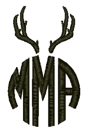 Circle Monogram with Antlers