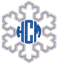 Snowflake Applique Monogram