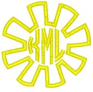 Sun Applique Monogram