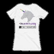 Women's V-Neck T-shirt ~ #UnicornInTraining