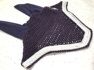 "C&C Bonnet - Blackberry ""Old Dominion"" with white and iridescent sparkle and snow trim"