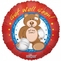 Get Well Bear Balloon
