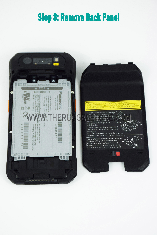 How to install a MicroSD Card in a Panasonic FZ-N1 or FZ-F1 Toughpad