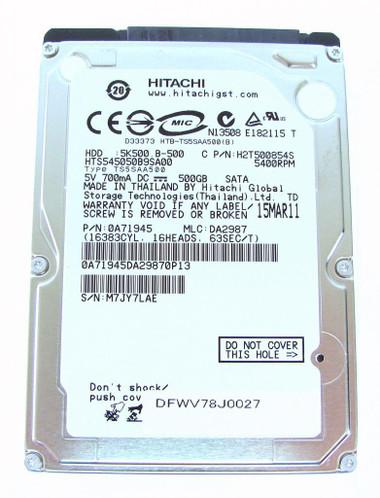 Hitachi 250GB Sata Laptop HDD 5400RPM H2T500854S