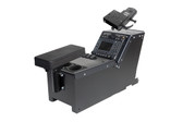 Gamber Johnson Ford Police Interceptor Utility (2012+) console box with cup holder, armrest and Mongoose motion attachment 7170-0166-04
