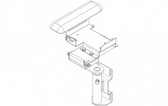 Havis Brother Arm Rest Printer Bracket C-ARPB-124