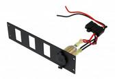 Havis Lighter Plug Outlet W/ 3 Switch Cut Outs C-LP1-PS3