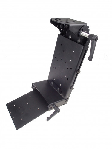 Havis Forklift Height Adjustable Overhead Mounting Package for Convertible Laptop or Tablet with Keyboard Tray C-MH-1006